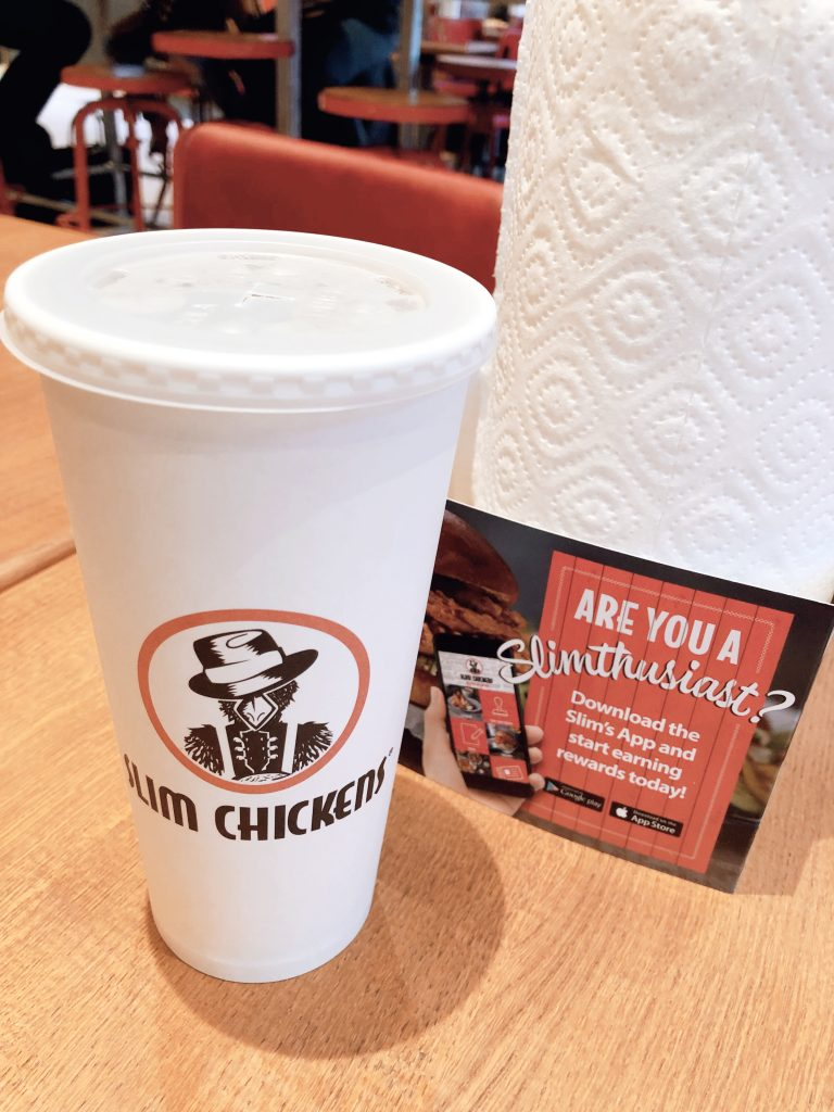 Slim Chicken London bottomless drink