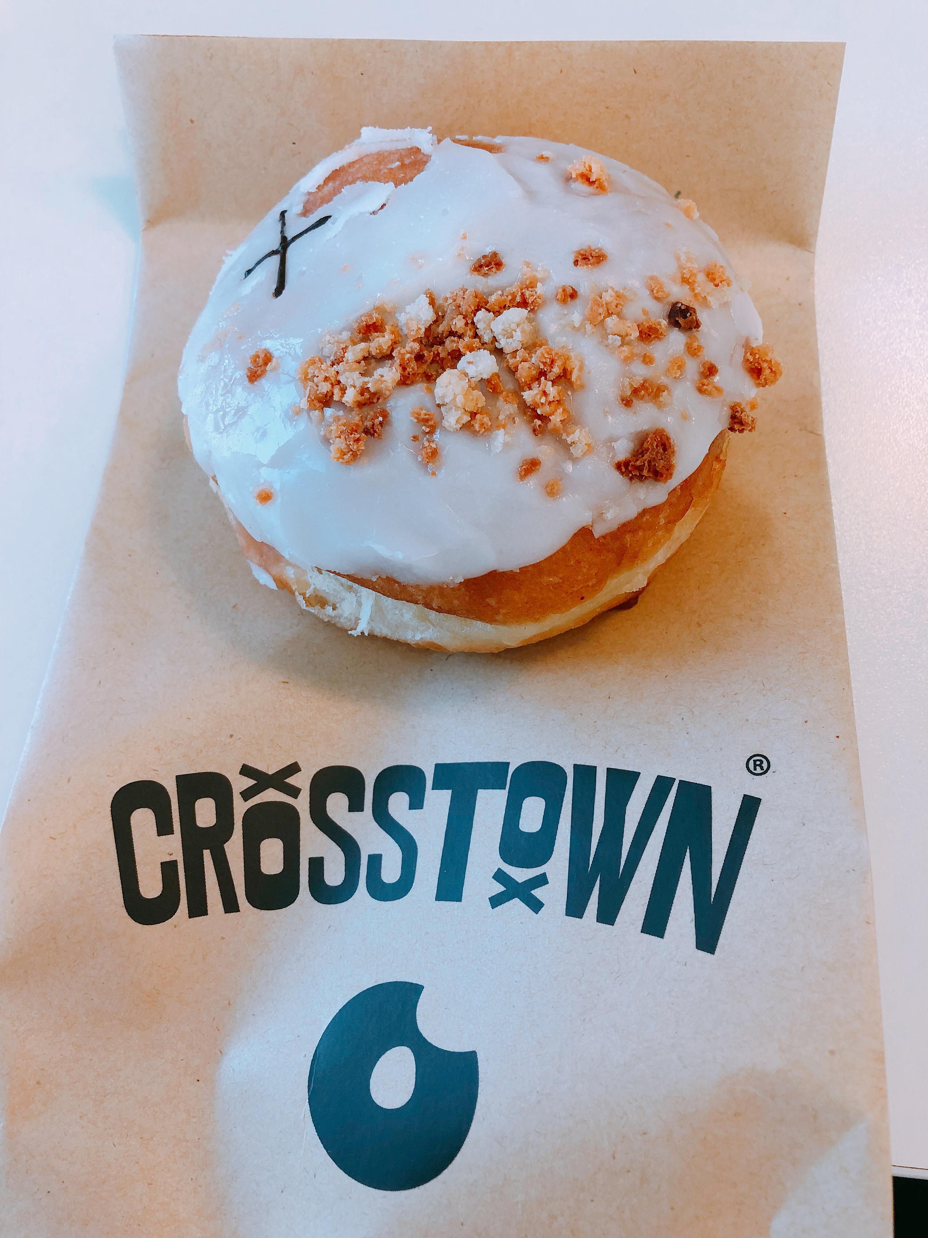 crosstown doughnut roasted peach