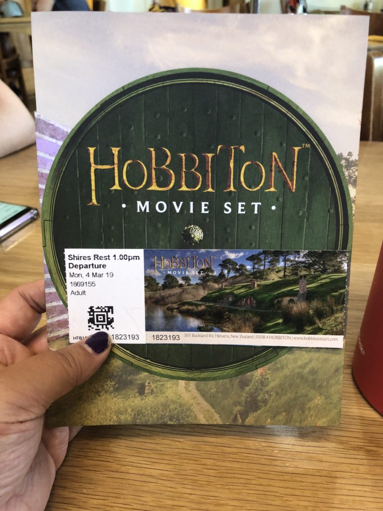 Hobbiton movie set ticket