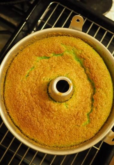a moist airy fluffy pandan chiffon cake recipe