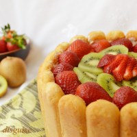 Lady finger fruit dessert