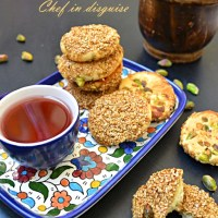 "Honey pistachio sesame cookies ""Barazek"""