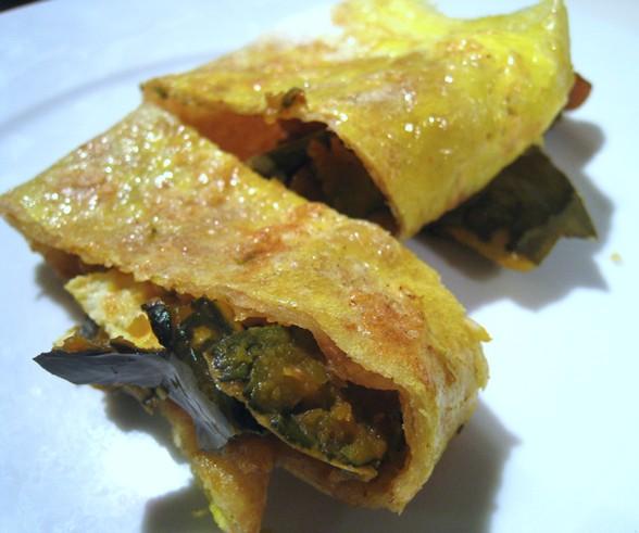 EGG PANCAKE WITH PUMPKIN SKIN recipe