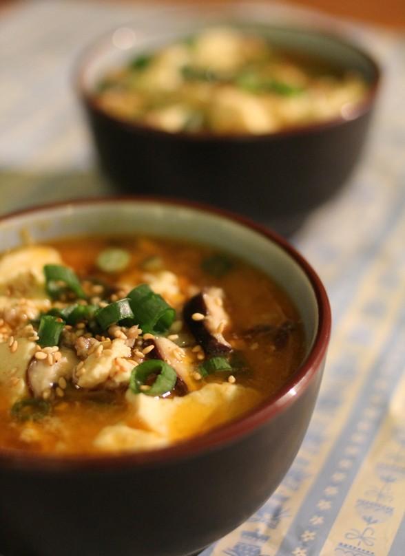 KOREAN SPICY SOFT TOFU STEW recipe