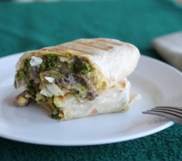 STEAK, EGG, AND POTATO BURRITO recipe