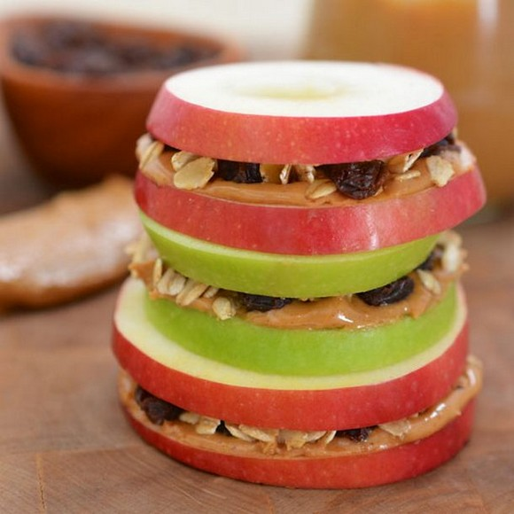 Apple peanut butter sandwich recipe picture 1