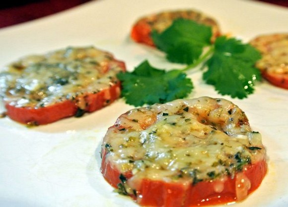 Baked parmesan tomatoes recipe picture 2