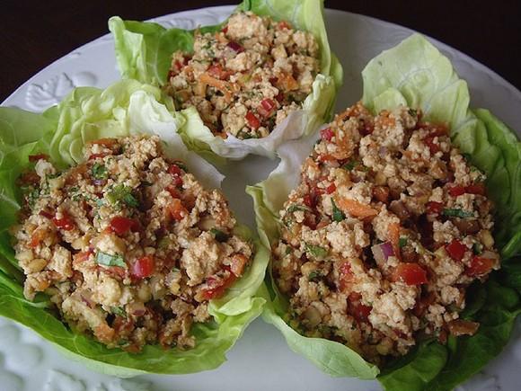 Hoisin Veggie-Tofu Lettuce Cups recipe