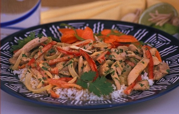 Chicken in Panang Curry Ginger Sauce recipe by Group Recipes