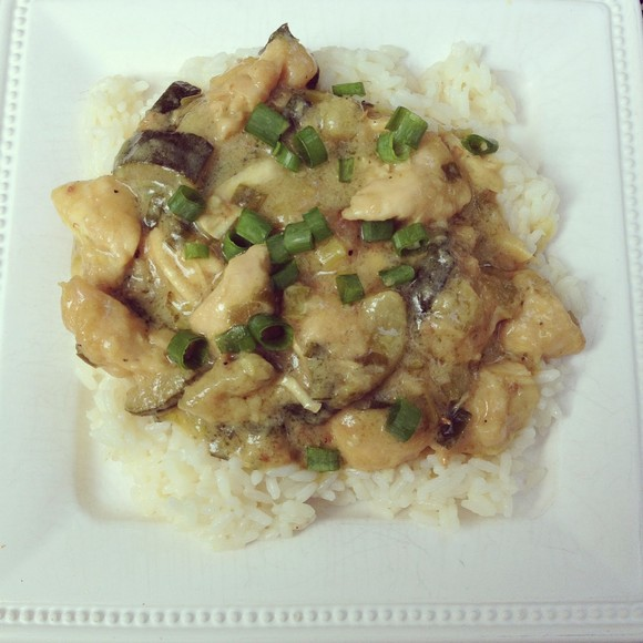 Thai Green Curry Chicken recipe by Designer Bags and Dirty Diapers