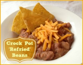 Crock Pot 'Refried' Beans recipe photo