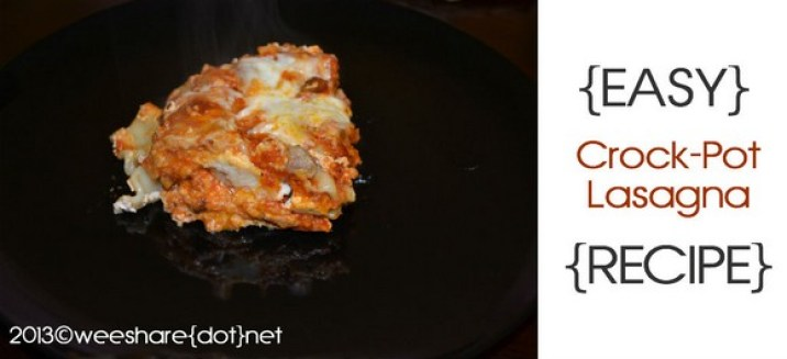 Easy Crock-Pot Lasagna recipe photo