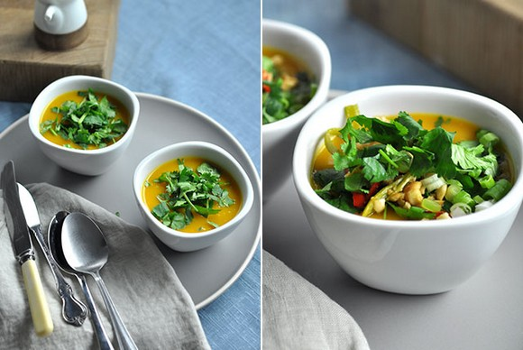 Pumpkin, Kumara and Lime Soup recipe photo