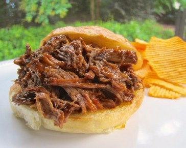 Slow Cooker Hickory BBQ Beef Sandwiches recipe photo