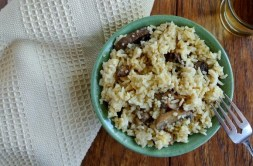 Slow Cooker Mushrooms and Rice recipe photo