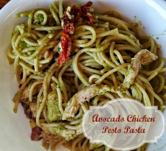 Avocado Chicken Pesto Pasta recipe photo