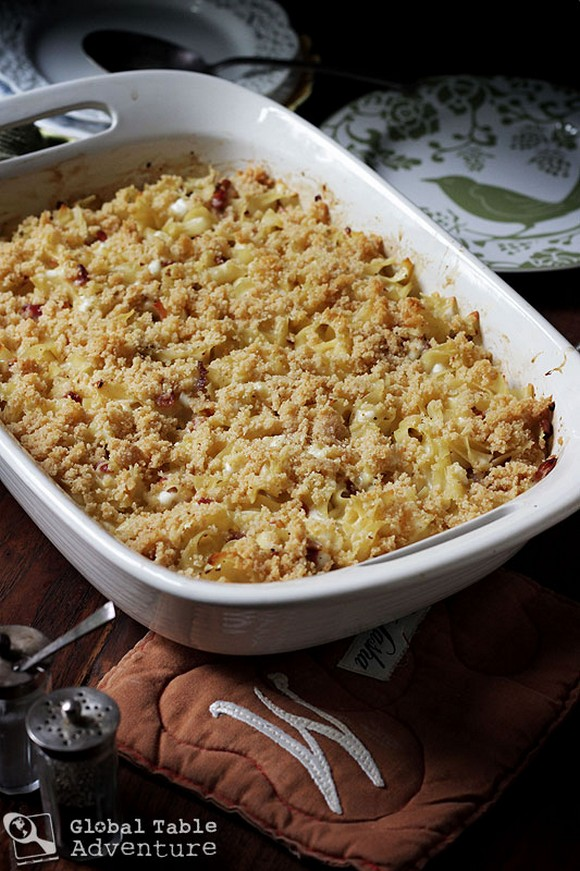 Baked Lokshyna - Ukrainian Pasta Bake recipe photo