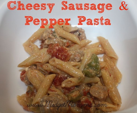 Cheesy Sausage and Pepper Pasta recipe photo
