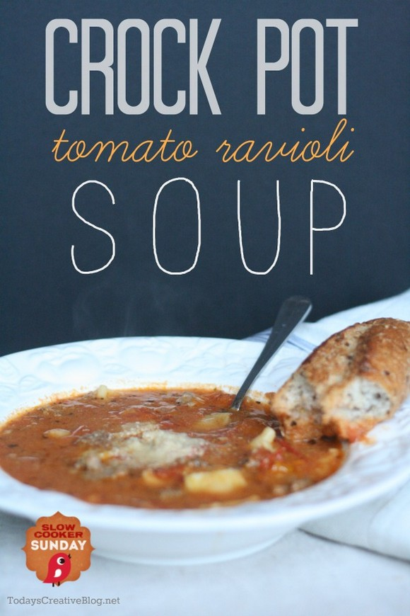 Crock Pot Tomato Ravioli Soup recipe photo