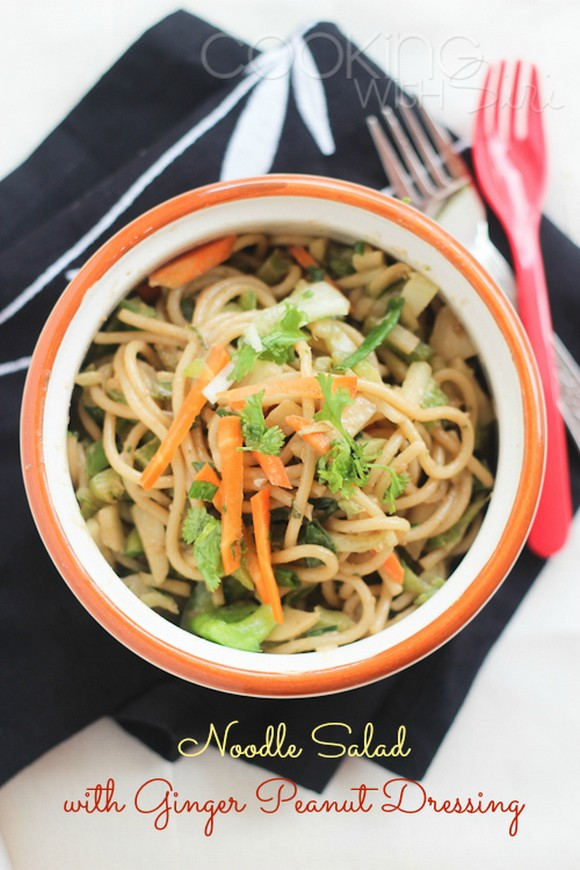 Noodle (Pasta) Salad with Ginger Peanut Dressing recipe photo