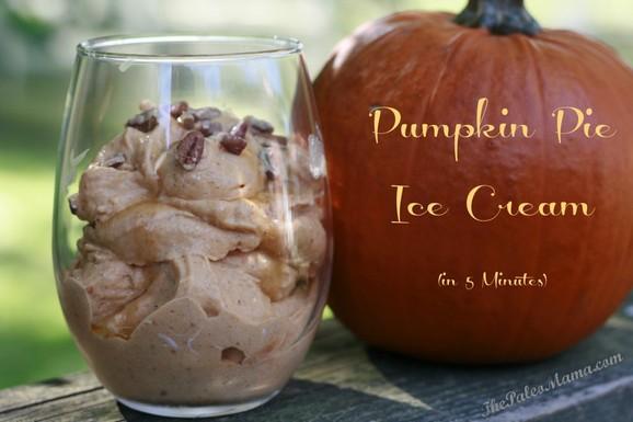 5 Minute Pumpkin Pie Ice Cream recipe photo