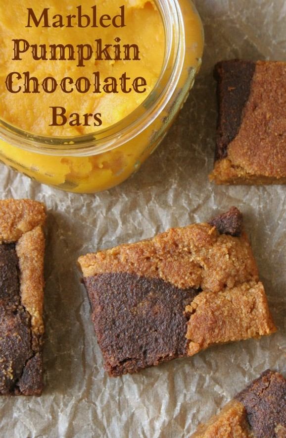 Marbled Pumpkin Chocolate Bars recipe photo