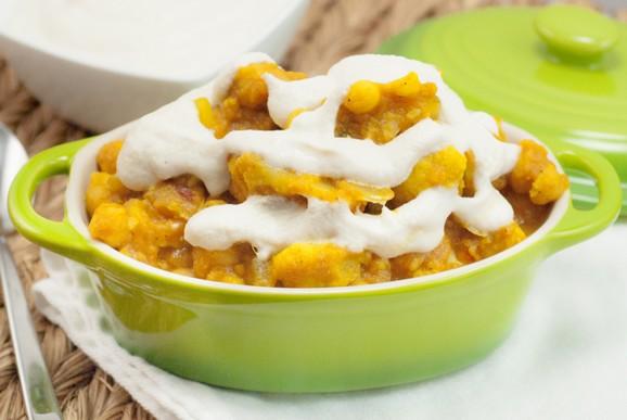 Pumpkin Chickpea Cauliflower Curry with Cashew Cream Sauce recipe photo