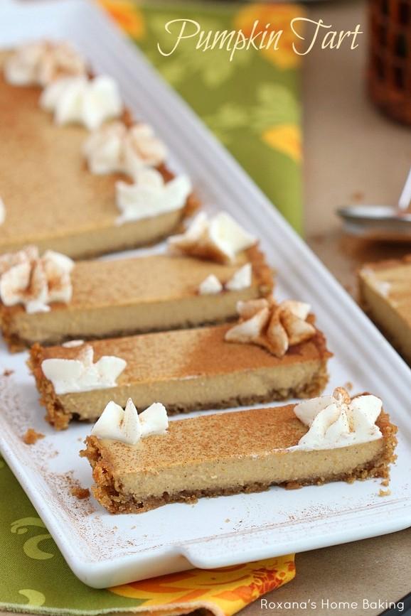 Pumpkin Pie Panna Cotta Tart recipe photo