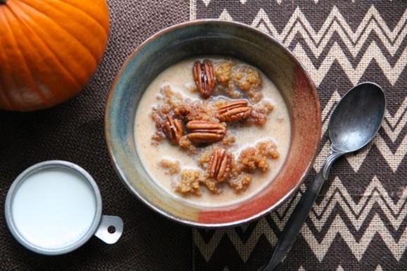 Spiced Maple Pumpkin Breakfast Quinoa recipe photo