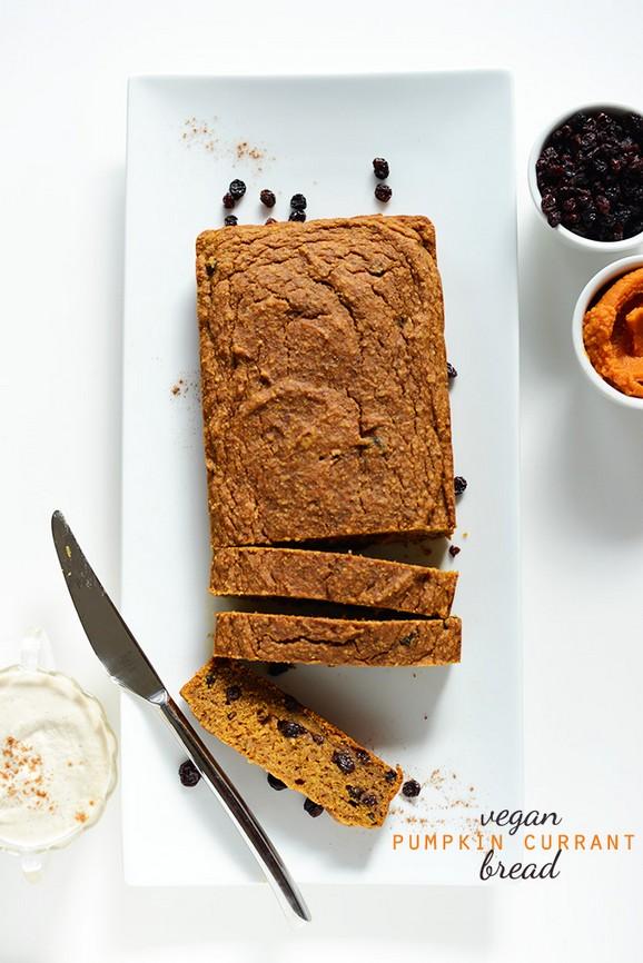 Vegan Pumpkin Currant Bread recipe photo