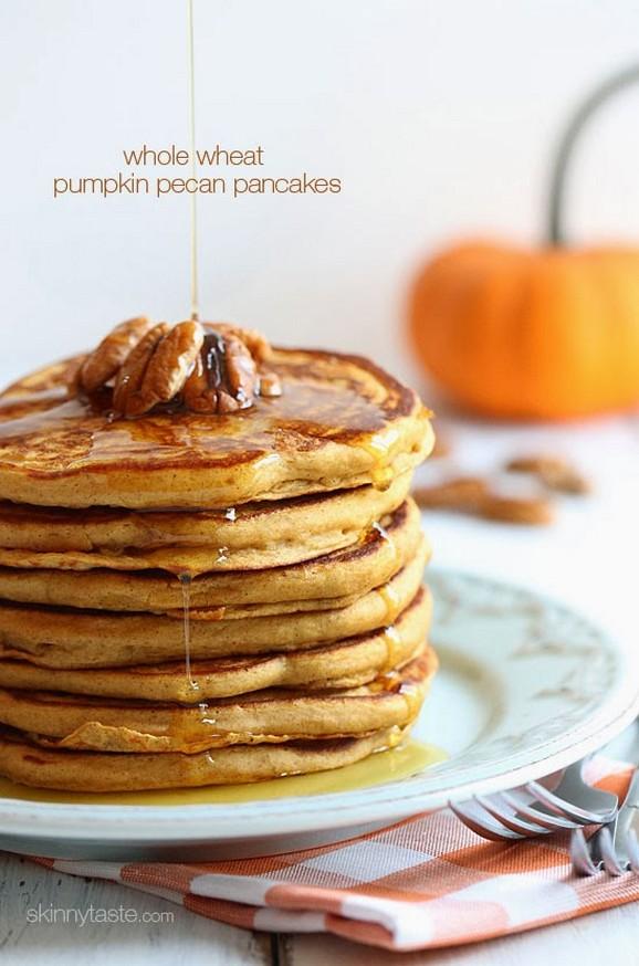 Whole Wheat Pumpkin Pecan Pancakes recipe photo