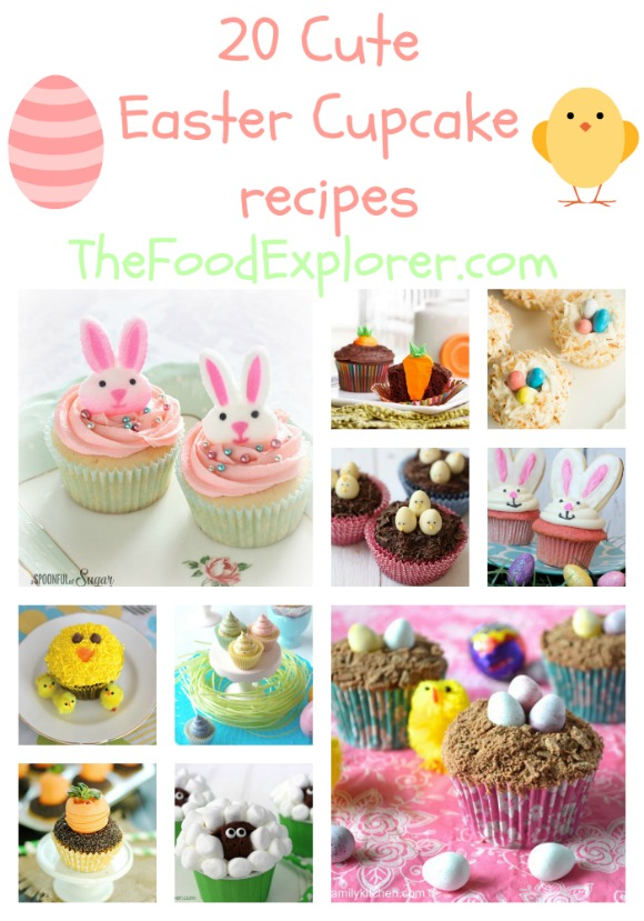 20 cute Easter cupcake recipes