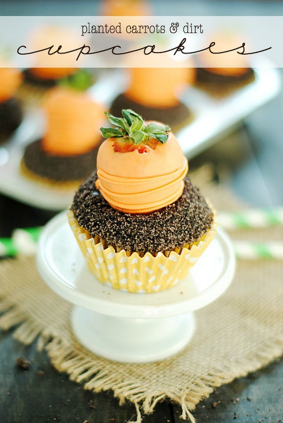 Carrots & Dirt Cupcakes recipe photo