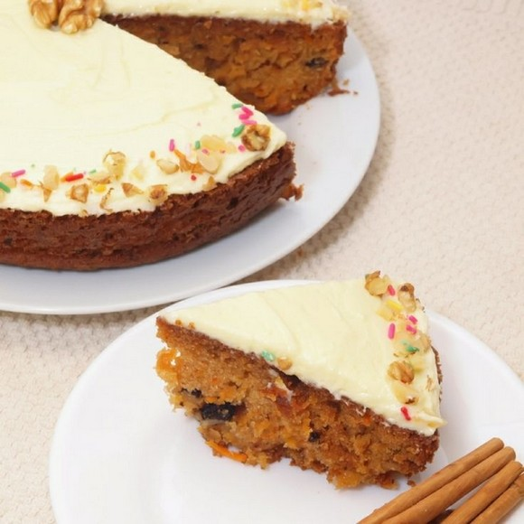 Cinnamon Raisin Carrot Cake recipe photo
