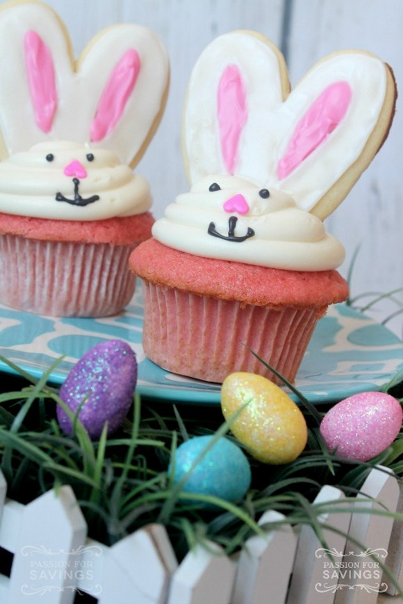 Cute Bunny Easter Cupcakes recipe photo