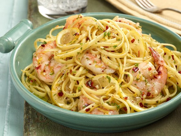 Ina Garten Linguine with Shrimp Scampi recipe photo