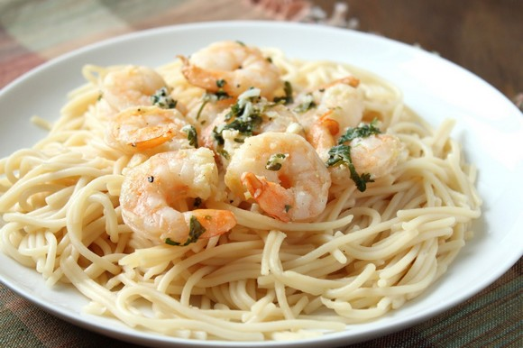 Low-FODMAP Shrimp Scampi Bake recipe photo