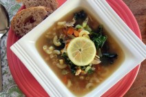 Roasted Garlic Chicken Noodle Soup recipe photo