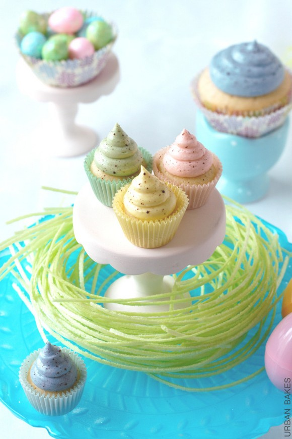 Speckled Easter Cupcakes recipe photo