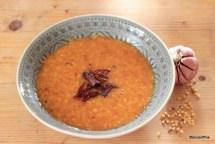 Tomato and Lentil Soupy Broth recipe photo