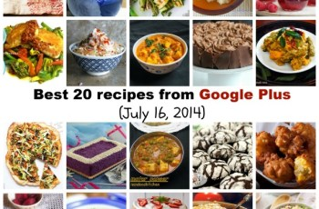 Best 20 recipes from Google Plus (July 16, 2014)