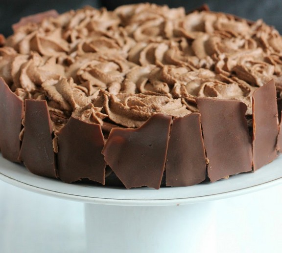 Chocolate Cake With Chocolate Mousse recipe