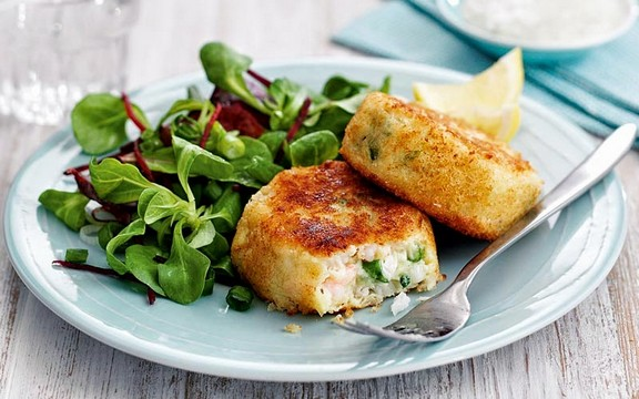 Crispy Cod & Prawn Fishcakes recipe