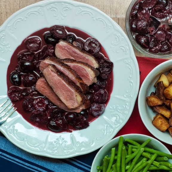 Duck with Red-Wine Cherry Sauce recipe
