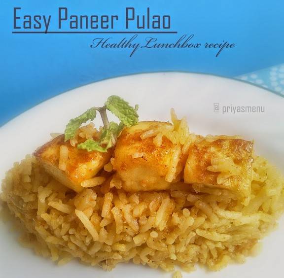 Easy Paneer Pulao recipe