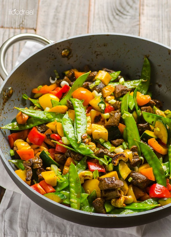Healthy Beef and Cashew Stir Fry recipe photo