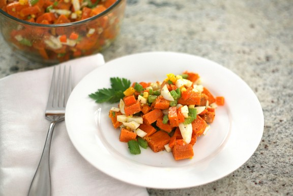 Simple Paleo Sweet Potato Salad recipe