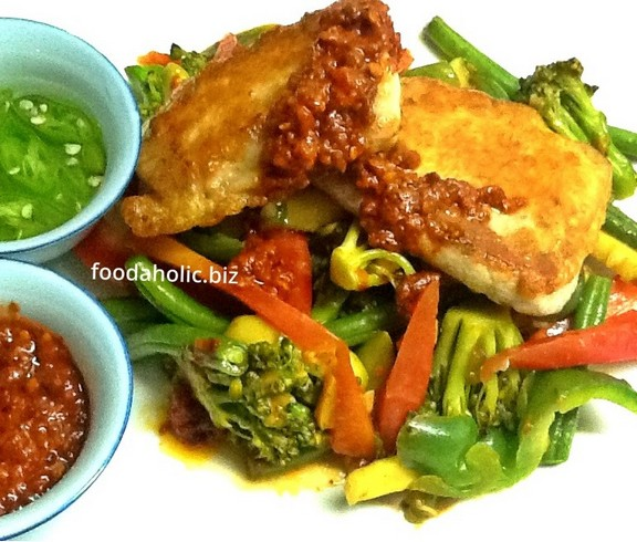 Szechuan Fish and Vegetables Stir Fry recipe