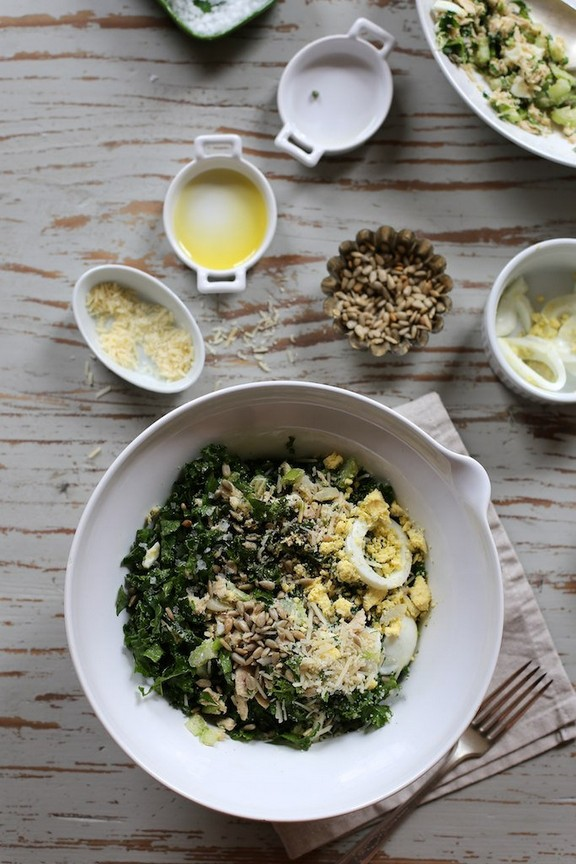 Tuna, Kale, and Egg Salad recipe