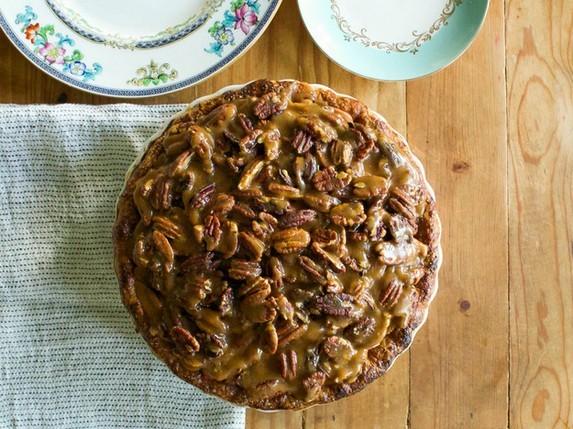 Apple-Pecan Bourbon-Caramel Pie by Serious Eats